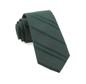 Hunter Green Wool Path Stripe ties