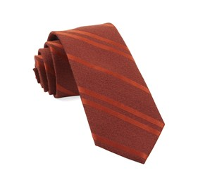 Burnt Orange Wool Path Stripe ties