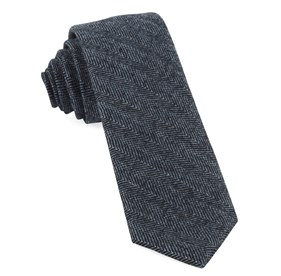 Midnight Navy Blue Ridge Herringbone ties