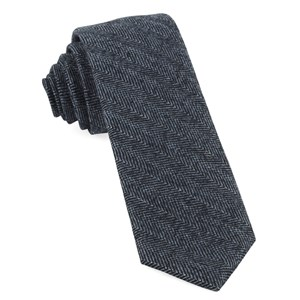 blue ridge herringbone midnight navy ties
