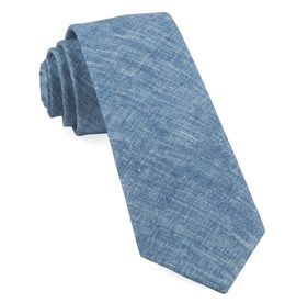 Freehand Solid Classic Blue Ties