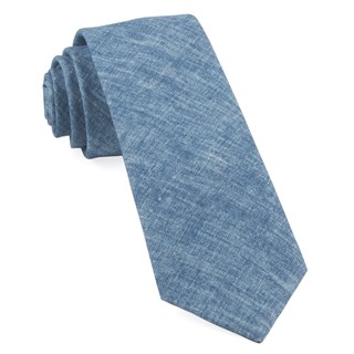Freehand Solid Classic Blue Tie