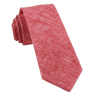 freehand solid red ties