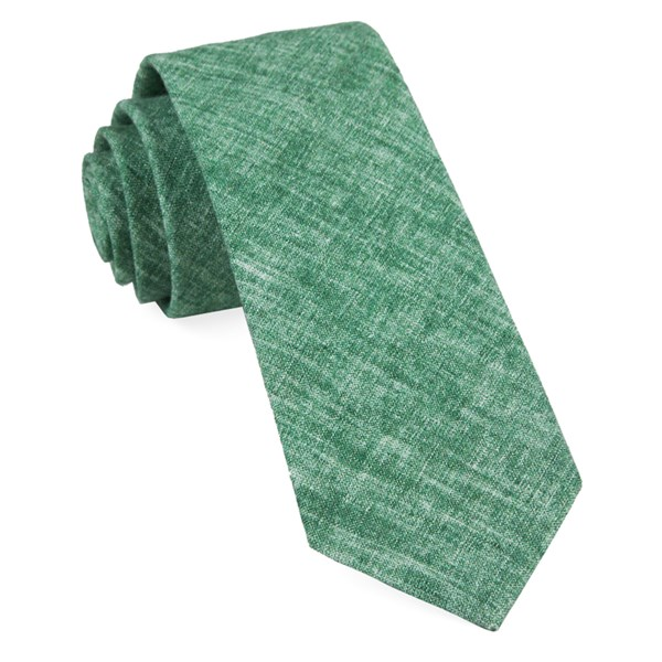 Green Freehand Solid Tie