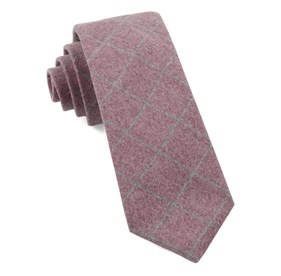 Raspberry Printed Flannel Paine ties