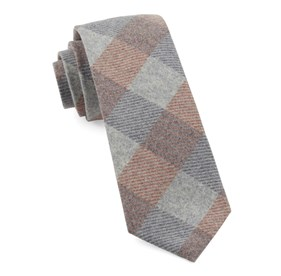 Tebo Plaid Orange Ties