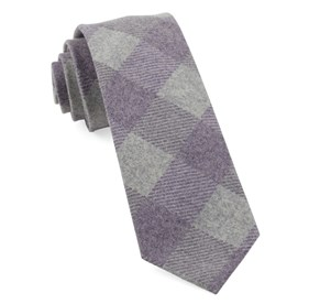 Tebo Plaid Plum Ties