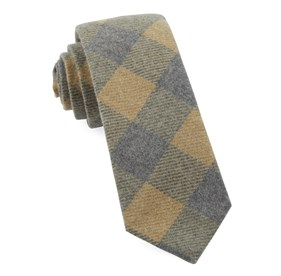 Mustard Tebo Plaid ties