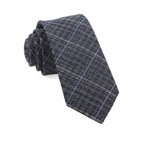 Navy Quinn Plaid ties