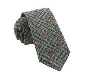 Moss Green Quinn Plaid ties
