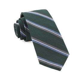 Hunter Green Short Cut Stripe ties