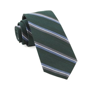 short cut stripe hunter green ties