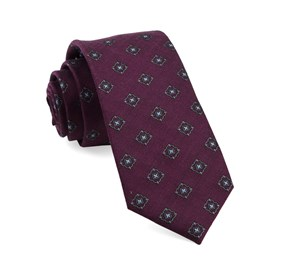 Wine Medallion Shields ties