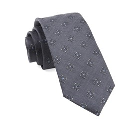 Grey Medallion Shields ties