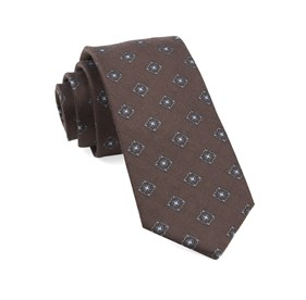 Brown Medallion Shields ties