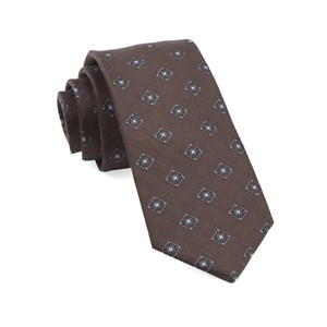 medallion shields brown ties