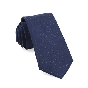 flecked solid navy ties