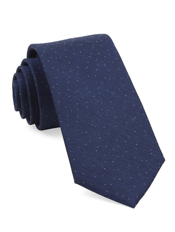 Flecked Solid Navy Tie