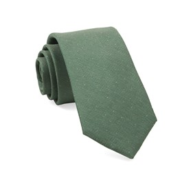 Flecked Solid Green Ties