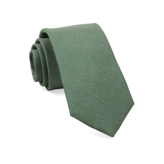 Flecked Solid Green Tie
