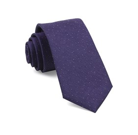 Flecked Solid Purple Ties