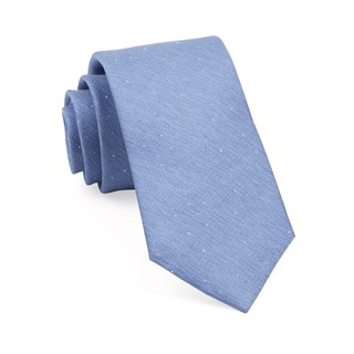 Flecked Solid Light Blue Tie