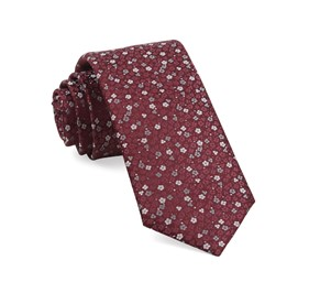 Burgundy Flower Fields ties