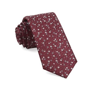 flower fields burgundy ties