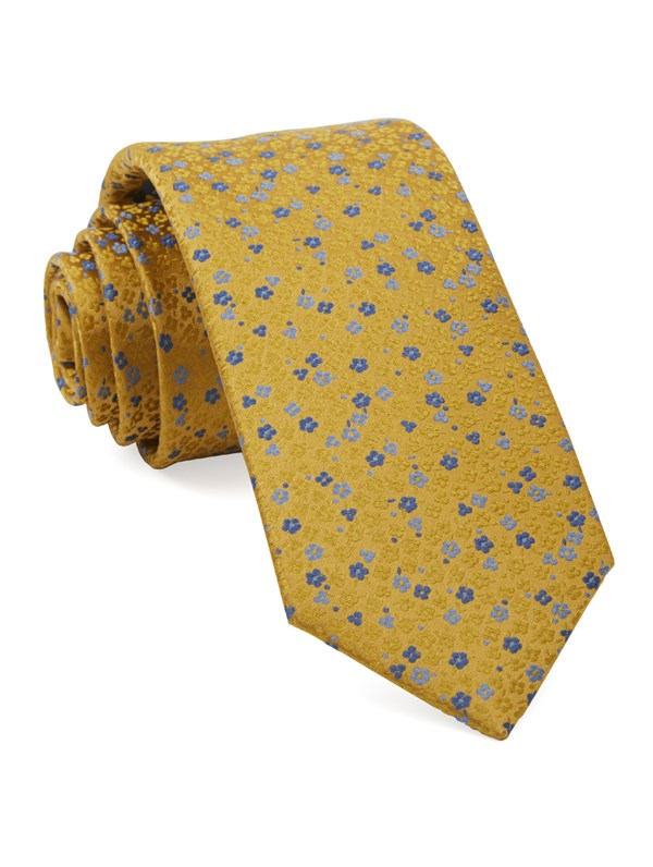 Flower Fields Yellow Tie