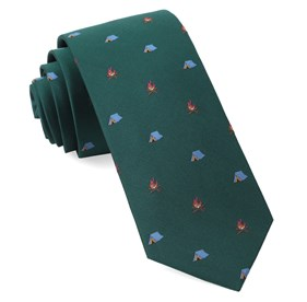 Camp Out Hunter Green Ties