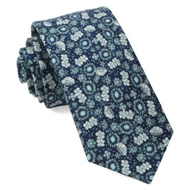Flower City Navy Ties
