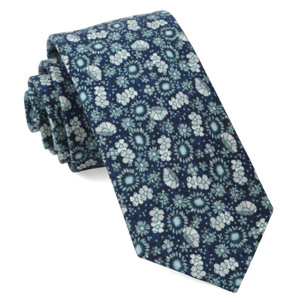 Navy Flower City Tie