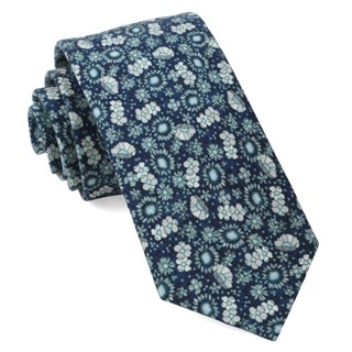 Flower City Navy Tie