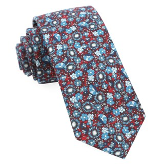 Flower City Red Tie