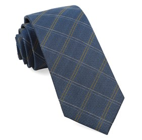 Serene Blue Wingman Checks ties
