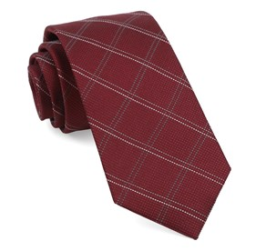 Wingman Checks Burgundy Ties