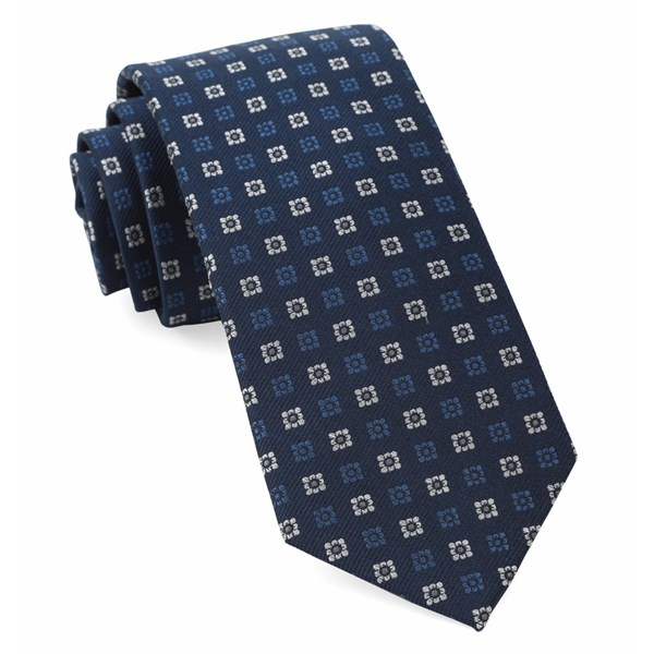 Navy West Ridge Geos Tie