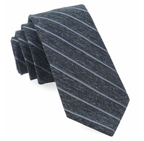 Navy Pike Stripe ties