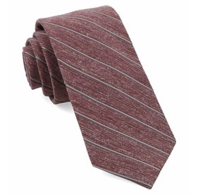 Pike Stripe Burgundy Ties