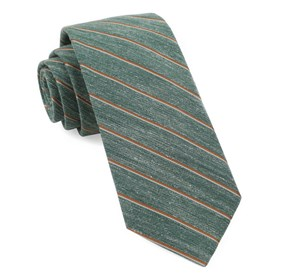 Pike Stripe Hunter Green Ties