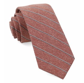 Orange Pike Stripe ties