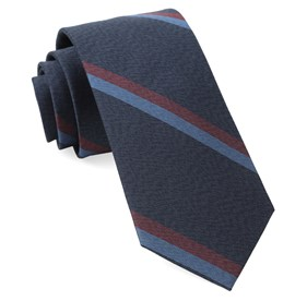 Slb Stripe Navy Ties