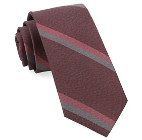 Burgundy Slb Stripe ties