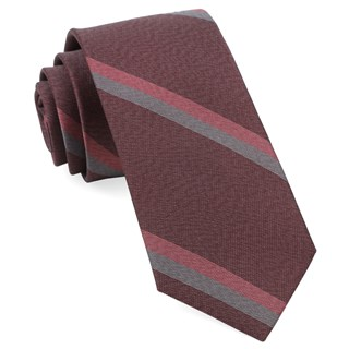 slb stripe burgundy ties
