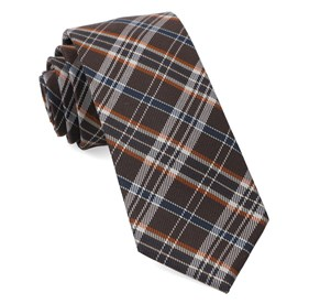 Andersen Plaid Brown Ties