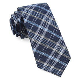 Andersen Plaid Navy Ties