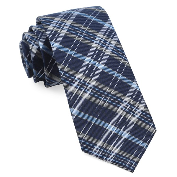 Navy Andersen Plaid Tie