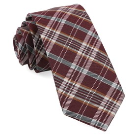 Burgundy Andersen Plaid ties