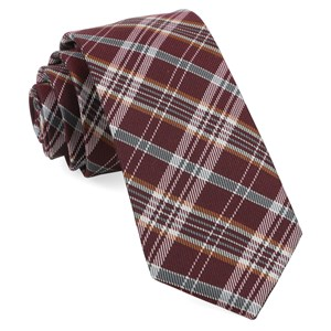 andersen plaid burgundy ties