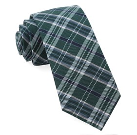 Andersen Plaid Hunter Green Ties